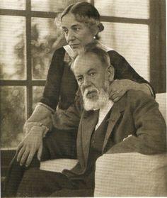 Joaquín Sorolla y Bastidaand with his wife Clotilde García del Castillo