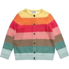 Sonia Rykiel Enfant girls bright coloured striped knitted cardigan
