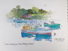 DON GETZ 'WATERCOLOR JOURNAL TOUR' OF THE USA: Pemaquid Memories