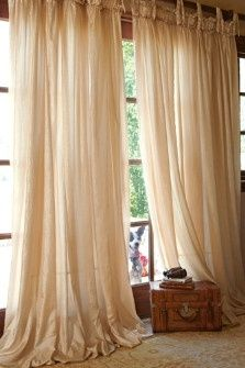 Home Decor | Soft Surroundings love how these fall... and the photo bombing dog ; )