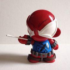 Scarlet Spider Custom Munny  by thewowlrus on Etsy, $55.00