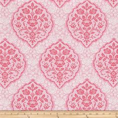 Michael Miller Tweet La Vie Jessamina Pink from @fabricdotcom  From Michael Miller, this cotton print is perfect for quilting, apparel and home decor accents. Colors include pink and white.