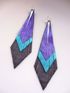 4 layer Metallic Native Anpaytoo Earrings by shopfoundobjects, $44.00