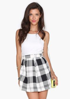 First Day Plaid Skirt