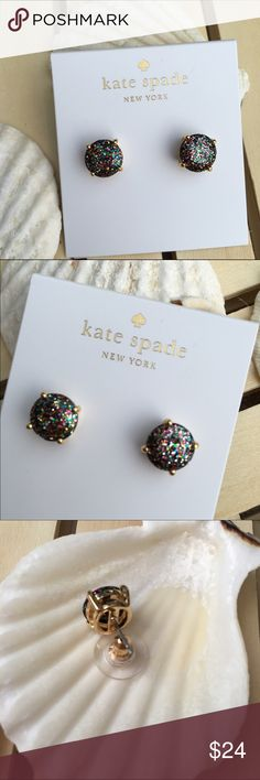 """Kate Spade Multicolored Glitter Earrings Kate Spade Multicolored Glitter Round Stud Earrings Approx. 6/16"""" H x 6/16"""" x L High polished gold tone setting Dust bag included 100% Authentic - PRICE IS FIRM kate spade Jewelry Earrings"""