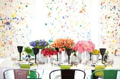 The most stunning wedding I've ever seen! Inspired by the couples love of abstract expressionist painter Jackson Pollock. Amazing!