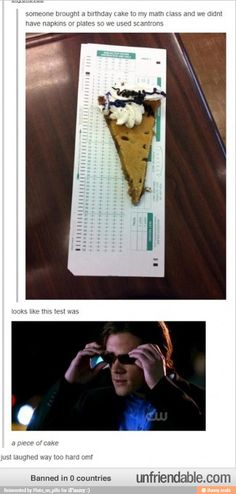 Only acceptable way to use scantrons!