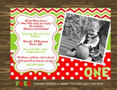 Grinch Inspired Birthday Invitation - Printable - FREE pennant banner and thank you card with purchase