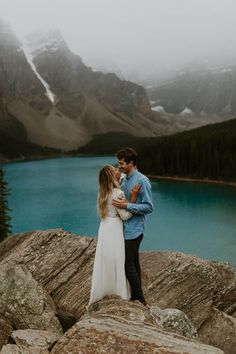 Stunning Lake Louise is tough to beat as far as engagement session locations go! | Image by Nathan Walker Photography