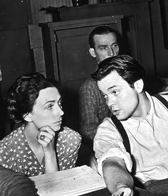 Agnes Moorehead & Orson Welles
