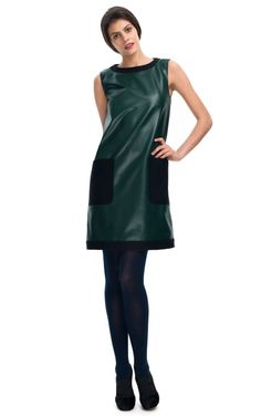 """Fendi    Not that I'm being critical of a designer dress, but when I was in 2nd or 3rd grade, I had a """"pleather"""" dress like this  (in the 60's)..."""