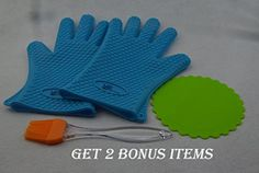 Use this -  Cooking Gloves Heat Resistant