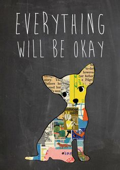 Everything will be ok typography print - Art Print by Claudia Schoen/Society6 Print