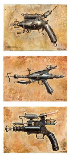 Handmade Steampunk Rayguns From the F/X Guys at Weta