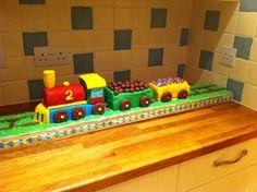 Harry's 2nd birthday train cake