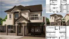 House Plan for Relaxed Family Life – Architecture Admirers Sweet Sweet, Sweet Home, Smart House, Modern Houses, Case, Family Life, Villas, My Dream Home, Exterior Design
