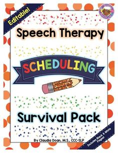 Does planning your speech therapy schedule make your head spin? This thoughtful, editable speech therapy scheduling packet includes templates and simple instructions to make speech therapy planning easier. The packet includes speech scheduling newsletter templates, IEP forms, caseload organizer, speech scheduler, and many more! You'll save time and reduce scheduling stress! | Creative Speech Lab #speechtherapyschedule #speechtherapyscheduling #speechtherapyplanning #slpeeps #slptools