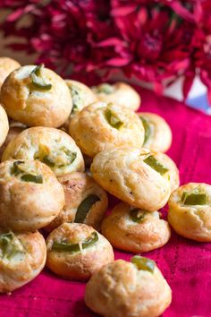 French savory gougère, jalapeño popper style for appetizers at your next party. Step-by-step instructions and tips for success included. Vegetarian Appetizers, Appetizers For Party, Appetizer Recipes, Meatless Recipes, Appetizer Ideas, Vol Au Vent, Jalapeno Poppers, Stuffed Jalapeno Peppers, Food Network Recipes