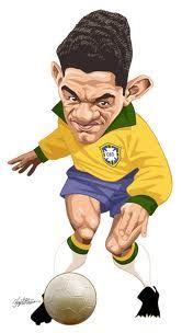 """Manuel dos Santos """"Garrincha"""" gran jugador de Botafogo. Aquí con la casaca de la Selección Brasileña."""