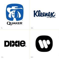Logos by Saul Bass Quaker Oats, 1971 Kleenex, Dixie, 1969 Warner Communications, 1972 Doc Hollywood, Saul Bass Logos, Design Fails, Itunes Gift Cards, James White, Great Logos, Cool Logo, Logo Design Inspiration, Logo Branding