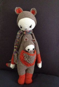 KIRA the kangaroo made by Rosanna S.-S. / crochet pattern by lalylala