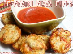 Joyously Domestic: Pepperoni Pizza Puffs - My Kids in the Kitchen