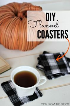 DIY Fall Decorations That Will Spice Up Your Home DIY flannel coasters. 14 fall diy fall decorations for your homeDIY flannel coasters. 14 fall diy fall decorations for your home Diy Craft Projects, Kids Crafts, Diy And Crafts, Fall Projects, Kids Diy, Craft Projects For Adults, Decor Crafts, Fall Crafts For Adults, Easy Fall Crafts