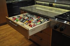 spices and supplements drawer