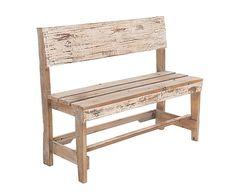Banco de madera. Largo: 95 cm Alto: 79 cm Ancho: 40 cm Alto del asiento: 42