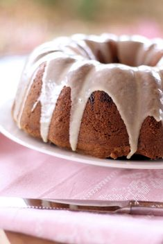 Guava and Cream Cheese Pound Cake with Spiced Rum Glaze (CROP)