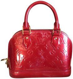 029ec65f6f7c Alma Bb Pomme D amour Vernis Red Patent Leather Satchel