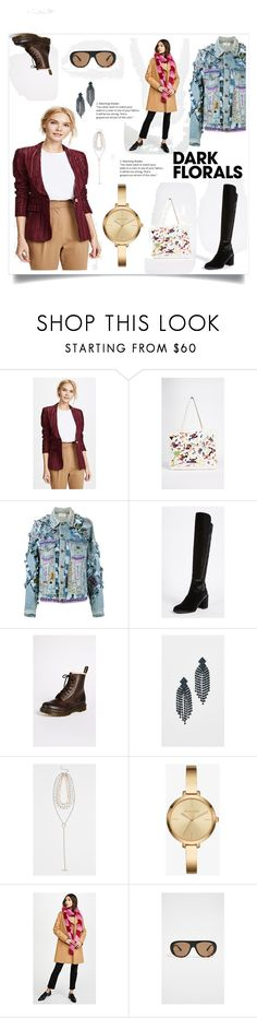 """Fashion friends"" by gloriaruth-807 ❤ liked on Polyvore featuring Smythe, Banner Day, Faith Connexion, Stuart Weitzman, Dr. Martens, Kenneth Jay Lane, Rebecca Minkoff, Charlotte Simone and Quay"