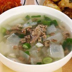 Korean Recipe: Beef Turnip Soup