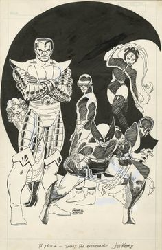 Drawing Marvel Comics X-Men sketched by John Romita, Jr. at the beginning of his first run on the Uncanny X-Men in - Marvel Comics, Marvel Comic Universe, Comics Universe, Universe Art, Comic Book Artists, Comic Books Art, Comic Art, Character Drawing, Comic Character