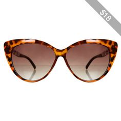 Miss Selfridge Tortoise Cat Eye Sunglasses