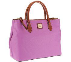 Dooney & Bourke Pebble Leather Willa Satchel Lilac