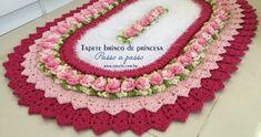 Tapete brinco de princesa passo a passo | Croche.com.br