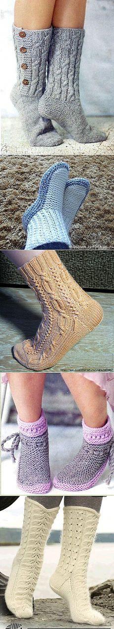 Носки вязаные ,подборка 2.