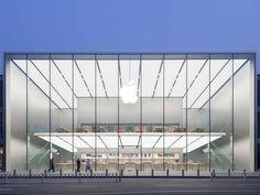 限界まで「ガラス張り」を追求したアップルストア、中国杭州にオープン|日経アーキテクチュア