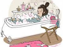 Un bain voluptueux...mousse et bougies !