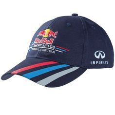 Official Red Bull Racing Merchandise Infiniti Red Bull Racing Team Cap for the 2013 Formula 1 season. This Infiniti Red Bull Racing 2013 team cap is part of the official Infiniti Red Bull Racing team collection for 2013.  This stylish cap is a must have for any fan of the RBR Formula 1 team. Complete with the teams logo embroideriered on the peak, and perfectly complemented by the Red Bull Racing team colours on the visor.