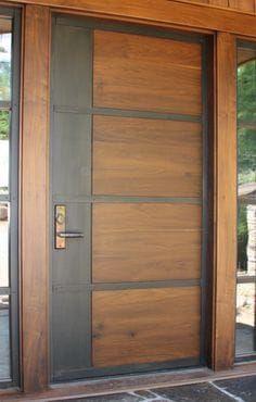Ideas tall entry door for 2019 Modern Entrance Door, Main Entrance Door Design, Modern Wooden Doors, Custom Wood Doors, Entry Doors, Front Door Design Wood, Double Door Design, Wooden Door Design, Bedroom Door Design