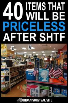 Next time you visit the dollar store, walk down each aisle and start stocking up on all the little things that will make life much easier after SHTF. Survival Items, Survival Supplies, Emergency Supplies, Urban Survival, Survival Food, Camping Survival, Survival Prepping, Survival Skills, Homestead Survival