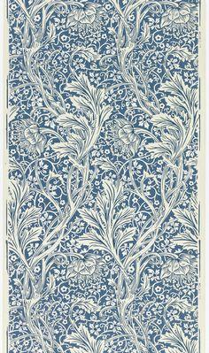 "Blue white wallpaper, ""Arcadia"", 1886 - manufacturer: Morris Co., designer: May Morris William Morris Wallpaper, William Morris Art, Morris Wallpapers, Fabric Wallpaper, Pattern Wallpaper, Print Wallpaper, Wallpaper Pictures, Art Bizarre, Blue And White Wallpaper"