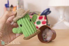 CAL Cactus – ¡Patrón cactus amigurumi GRATIS! – Amigurumi Duende de los Hilos Crochet Pony, Crochet Frog, Crochet Daisy, Crochet Cactus, Cute Crochet, Lace Knitting, Knitting Patterns, Crochet Patterns, Margarita Crochet