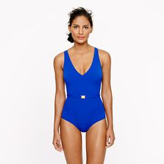 Gold-trim tank- I want to dress and feel like superwoman when I swim...how about you? Jcrew.