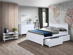 Coco White Hardwood Queen Size Storage Bedroom Suite on Sale for Cheap in Melbourne While Stocks Last! - B2C Furniture Queen Bedroom Suite, Under Bed Storage, White Queen, Bed Frames, Queen Size Bedding, Bedroom Storage, Cool Furniture, Melbourne, Hardwood