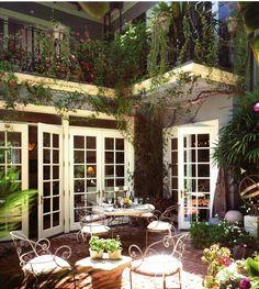 courtyard + french doors