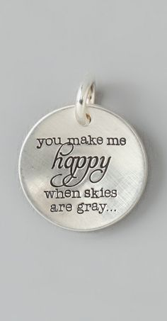 You are my sunshine... you make me happy when skies are gray | jewelry design