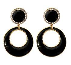 Black-Hoop-Earrings